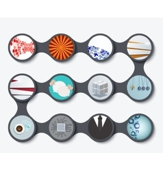 modern set of business backgrounds vector image