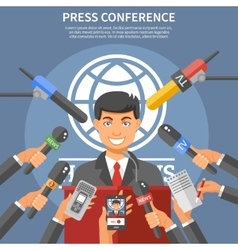 Press Conference Concept vector image vector image