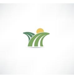 field icon vector image