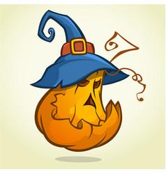 jack o lantern halloween pumpkin with black vector image vector image