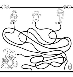 path maze game coloring page vector image vector image