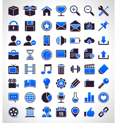 set of 56 simple universal icons vector image