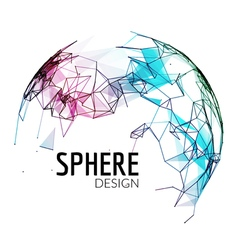 3d geometric background for business or science vector image
