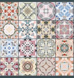 A collection of ceramic tiles vector
