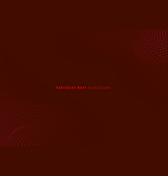 abstract red particles dots wave dynamic vector image