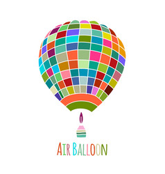 air balloon for your design vector image