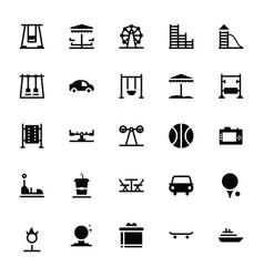 Amusement park glyph icons vector