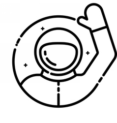 Astronaut welcomes you vector image