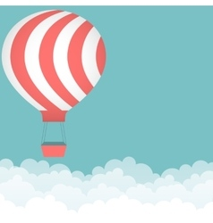 Background with hot air balloon vector