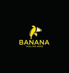 Banana icon logo graphic design template vector
