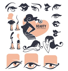 Beauty collection vector