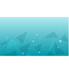 blue abstract geometric polygonal background vector image