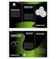 Brochure folder leaflet tri-fold template vector