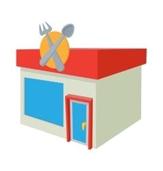 Cafe icon cartoon style vector image