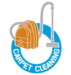 carpet cleaning service sign vector image