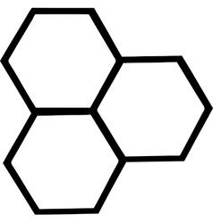 Cartoon bee hive vector