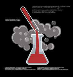 Chemistry chemical experiment poster vector