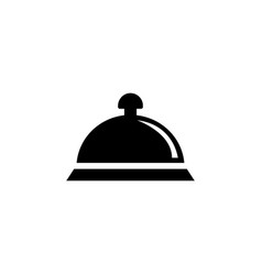 covered food dish tray flat icon vector image