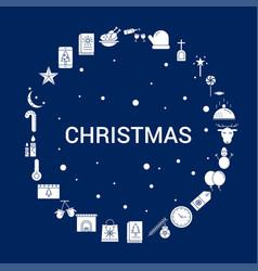 Creative christmas icon background vector