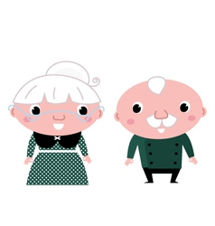 Cute elderly couple vector