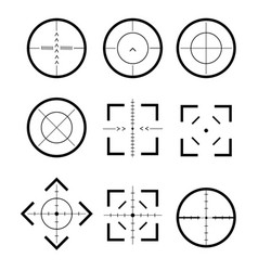 different icon set of targets and destination vector image