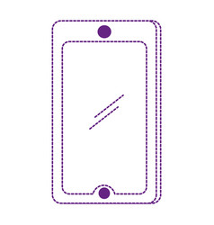 dotted shape smartphone technology object to call vector image vector image