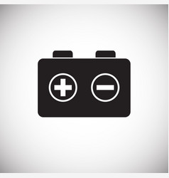 Drone battery charge icon on white background for vector