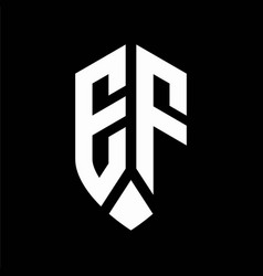 ef logo monogram with emblem shield style design vector image