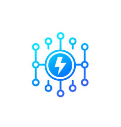 Electricity electric grid icon vector