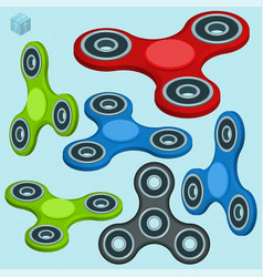 Fidget spinner relaxing toy vector