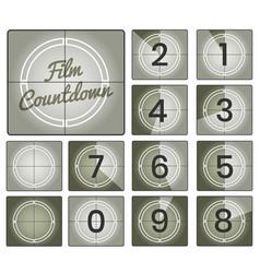 film countdown vintage frames vector image