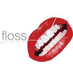 floss vector image