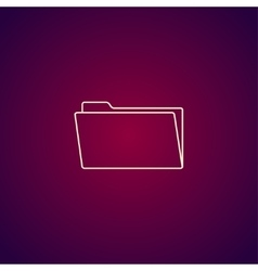 folder flat web icon vector image