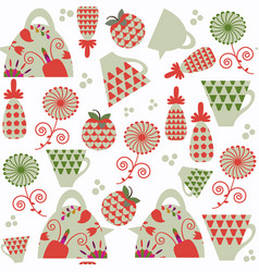 funny vivid abstract tea seamless pattern it is vector image