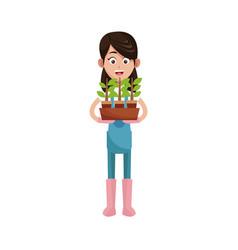 Gardener man icon vector