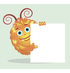 Good red furry monsters 5 vector image