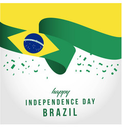 Happy brazil independent day template design vector