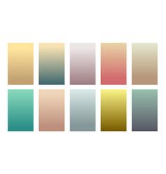 Historical vintage color gradient backgrounds set vector