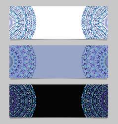 Horizontal abstract stone mandala banner template vector