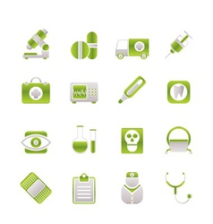 hospital and health care icons vector image