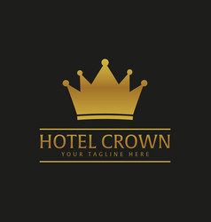 Hotel crown luxury hotel logo and emblem vector