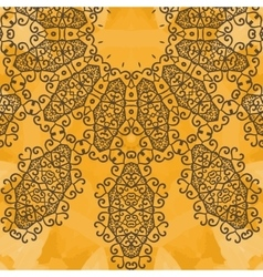 Indian Yoga Ornament kaleidoscopic floral yantra vector image