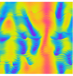 Infrared radiation waves seamless pattern vector