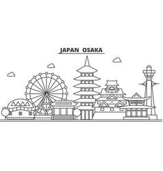 japan osaka architecture line skyline vector image