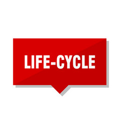 Life-cycle red tag vector