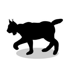Lynx wildlife black silhouette animal vector