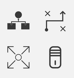 Machine icons set collection of branching program vector