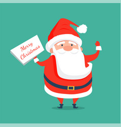 merry christmas congratulation from santa claus vector image