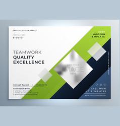 Modern green business flyer brochure presentation vector
