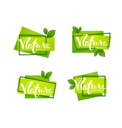nature product handdrawn lettering and bright vector image
